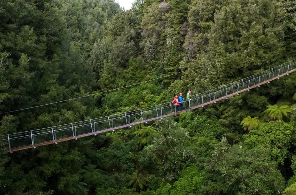 One of the epic swing bridges at Canopy Tours