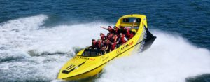 Katoa Jet Boat doing a spin